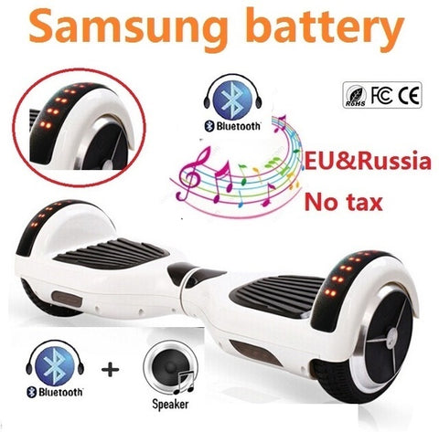 6.5 inch electric scooter Self balancing scooter 2 wheel electric standing scooter skateboard hoverboard bluetooth oxboard