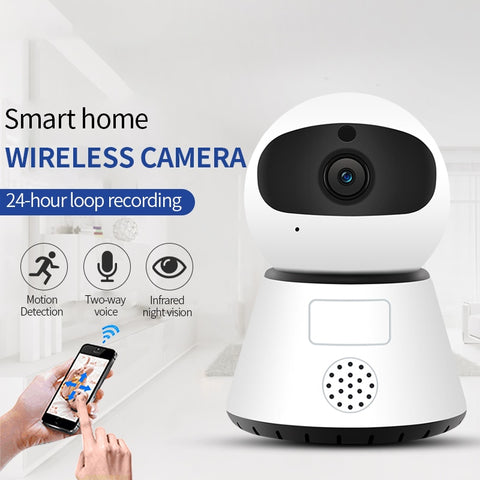 720/1080P PTZ Wireless Mini IP Camera Move Detection Infrared Night Vision Home Security Surveillance Wifi Camera Cloud Service - BuyShipSave