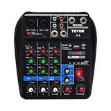 A4 Sound Mixing Console Bluetooth USB Record Computer Playback 48V Phantom Power Delay Repaeat Effect 4 Channels USB Audio Mixer - BuyShipSave