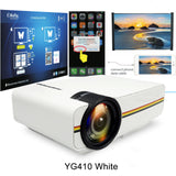 AAO YG400 up YG410 Mini Projector Wired Sync Display Portable Video For Home Theatre Support 1080P Proyector  AC3 HDMI VGA USB - BuyShipSave