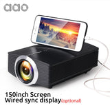 AAO YG500 Upgrade YG510 Mini Projector 1080P 1800Lumen Portable LCD LED Projector Home Cinema USB HDMI 3D Beamer Bass Speaker