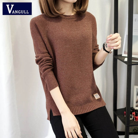 Autumn sweater 2017 Winter women fashion sexy o-neck Casual women sweaters and pullover warm Long sleeve Knitted Sweater - BuyShipSave