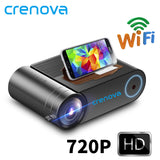 CRENOVA 2019 Newest HD 720P LED Projector For 1080P  Wireless WiFi Multi-Screen Video Projector  3D AC3 HDMI Beamer