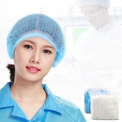 Disposable Non-woven Thick Cap Medical Surgical Dust-proof Strip Hat Cap Hood Beauty Salon Cap Protection Mushroom Cap 100Pcs - BuyShipSave