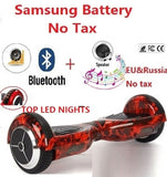 Electric self balancing scooter LED lights hoverboard bluetooth 2 wheel electric standing scooter electric skateboard giroskuter - BuyShipSave