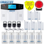 Free Shipping!IOS Android APP Control Wireless Home Security GSM Alarm System Intercom Remote Control Autodial Siren Sensor Kit - BuyShipSave