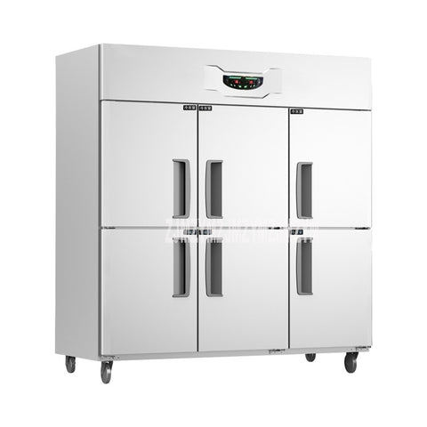 GT1.6L6ST 520W 1600L Stainless Steel Commercial Use 6 door Upright Freezer Refrigerator Two Temperature Home kitchen Equipment - BuyShipSave