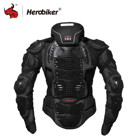 HEROBIKER Motorcycle Jackets Motorcycle Armor Racing Body Protector Jacket Motocross Motorbike Protective Gear + Neck Protector - BuyShipSave