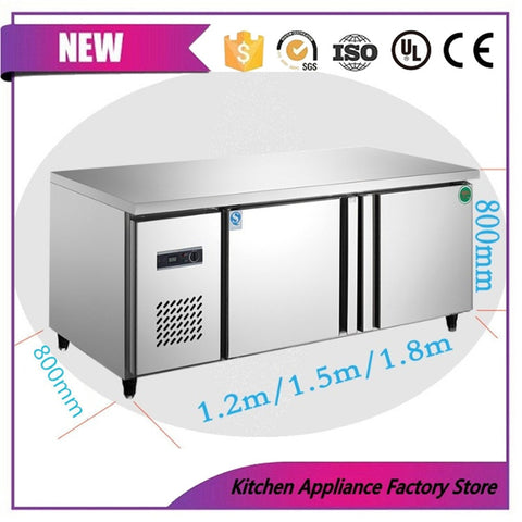Horizontal refrigerator workbenc freezer display food preservation table low temperature double commercial kitchen equipment - BuyShipSave