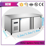Horizontal refrigerator workbenc freezer display food preservation table low temperature double commercial kitchen equipment
