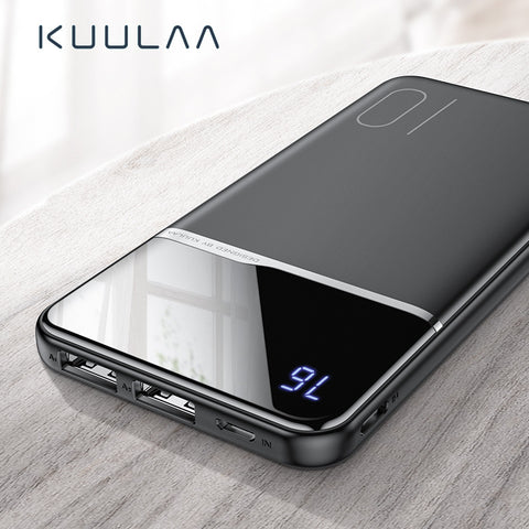 KUULAA Power Bank 10000mAh Portable Charging PowerBank 10000 mAh USB PoverBank External Battery Charger For Xiaomi Mi 9 8 iPhone - BuyShipSave