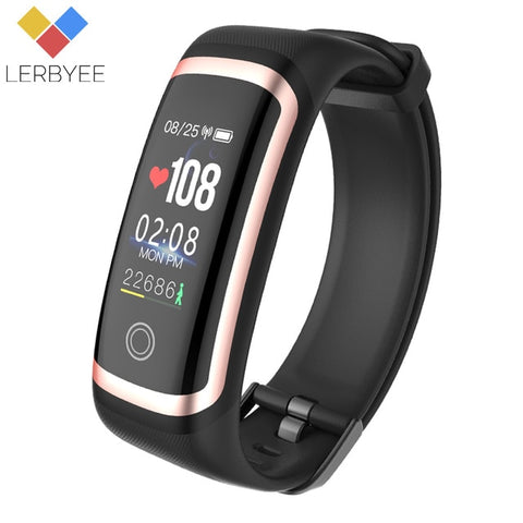 Lerbyee M4 Fitness Tracker Waterproof IP67 Blood Pressure Smart Bracelet Bluetooth Calories Sport Wristband for iOS Android Gift