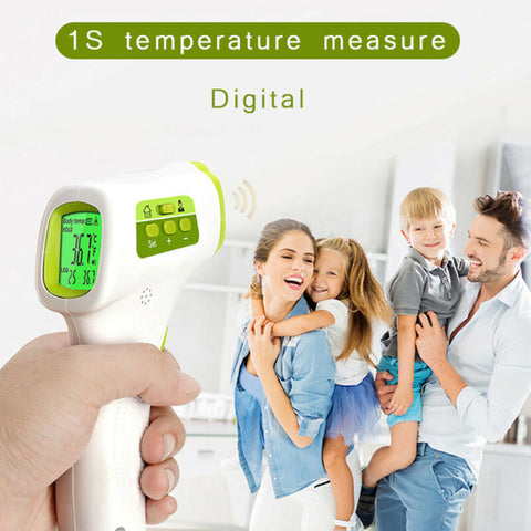 Medical Non-Contact Thermometer Gun LCD Digital Forehead Fever Adult Infrared Gun Non-contact Temperature Measuring Random Color - BuyShipSave