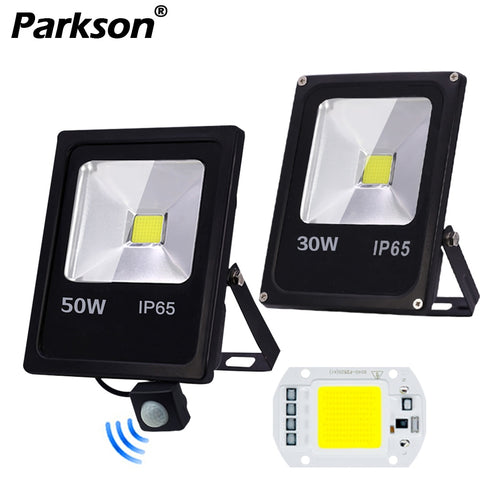 Motion Sensor LED Flood Light Waterproof IP65 10W 30W 50W Reflector Floodlight Lamp AC 220V foco Led Exterior Spot Outdoor Light