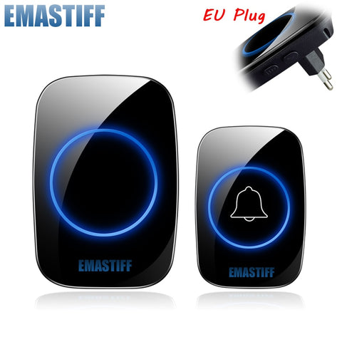 New Home Welcome Doorbell  Intelligent Wireless Doorbell Waterproof 300M Remote EU AU UK US Plug smart Door Bell Chime - BuyShipSave
