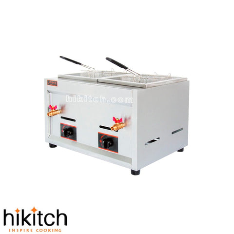 Sale restaurant kitchen equipment Stainless steel 19L gas chips deep fryer - BuyShipSave