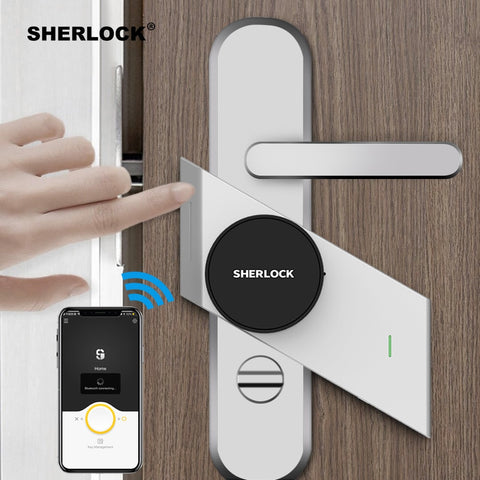 Sherlock S2 Smart Door Lock Home Keyless Lock Fingerprint + Password Work Electronic Lock Wireless App Phone Bluetooth Control - BuyShipSave