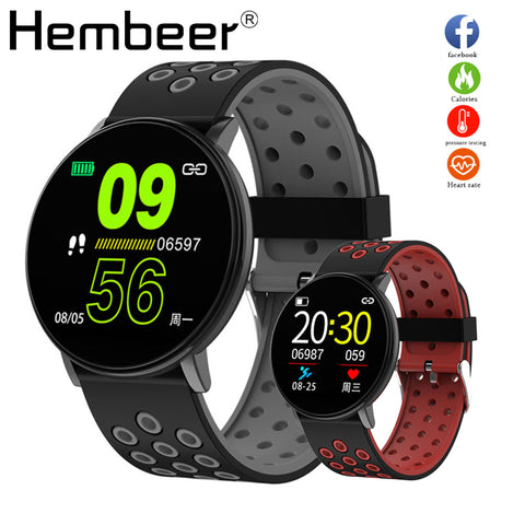 Smart Watch Men Blood Pressure Alarm Clock Round Waterproof Smartwatch Women Sport Health Heart Rate Wristwatch for Android IOS - BuyShipSave