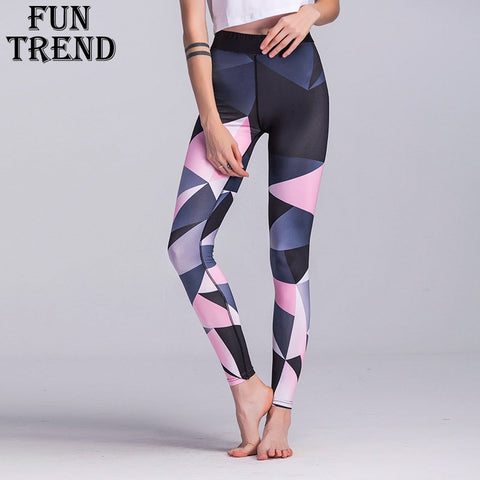 Sport Trousers Sport Pants Women Elastic Printed Yoga Pants Yoga Leggings Running Tights Sport Leggings Gym Clothes Fitness Yoga - BuyShipSave