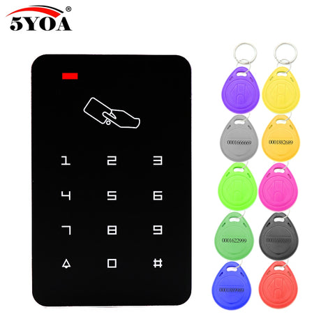 Standalone Access Controller with 10pcs EM keychains RFID Access Control Keypad digital panel Card Reader For Door Lock System - BuyShipSave