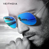 VEITHDIA Brand Unisex Classic Designer Mens Sunglasses Polarized UV400 Mirror Lens Fashion Sun Glasses Eyewear For Men Women