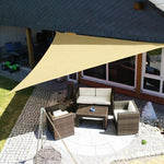 Waterproof Sun Shelter Triangle Sunshade Protection Outdoor Canopy Garden Patio Pool Shade Sail Awning Camping Shade Cloth Large - BuyShipSave
