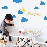 cartoon clouds wall stickers 22 pcs/set 5 different sizes nursery vinyl sticker bedroom decor wall stickers for kids room 2019 - BuyShipSave