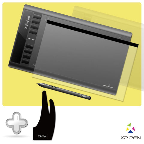 "XP-PEN Star03 Passive Pen 12"" Digital Graphic Tablet drawing Tablet  with Drawing Glove and Protective Film - BuyShipSave"