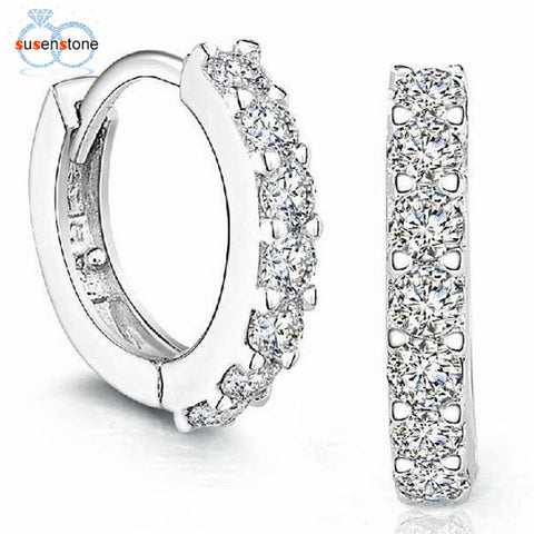 SUSENSTONE Sterling Silver Rhinestones Earrings for Women - BuyShipSave
