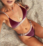 Two Piece Bikini Swimsuit Sexy Paded Swimwear Push Up Swim Suit for Women - BuyShipSave