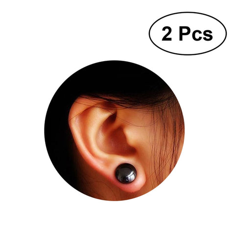 1 Pair of Women Girls Bio Magnetic Slimming Healthcare Ear Stickers Earrings Acupoints Loss Weight Wearing - BuyShipSave