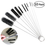 OUNONA 10pcs Nylon Tube Brushes Straw Set for Drinking Straws / Glasses / Keyboards / Jewelry Cleaning - BuyShipSave