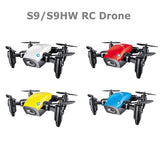 S9HW Mini Drone With Camera S9 No Camera RC Quadcopter Foldable Drones Altitude Hold RC Quadcopter WiFi FPV Pocket Dron VS CX10W - BuyShipSave