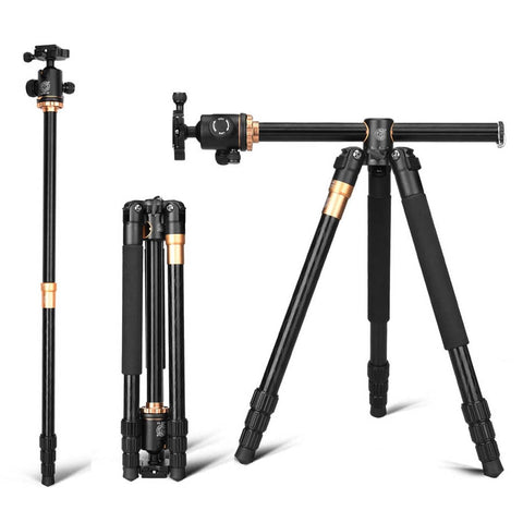Q999H Professional Camera Tripod 61 Inch Portable Compact Travel Horizontal System Tripod for Canon Nikon Sony SLR DSLR Cameras - BuyShipSave
