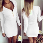 Autumn Dress Knitting 2018 Women Dresses Zipper O-neck Sexy Knitted Dress Long Sleeve Bodycon Sheath Pack Hip Dress GV090 - BuyShipSave