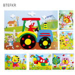 DIY Cartoon Animal 3D EVA Foam Sticker 20 designs Puzzle Series Early Learning Education Toys for Children - BuyShipSave