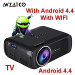 WZATCO CTL80 Android 6 Wifi Smart Portable Mini LED 3D TV Projector Support Full HD 1080p 4K Video Home Theater Beamer Proyector - BuyShipSave