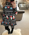 S-5XL Large Size Winter Women Dresses Casual Cute Printed Christmas Dress Casual 2018 Loose Party Short Dress Plus Size Vestidos - BuyShipSave