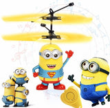 Minion drone RC Helicopter Aircraft Mini drone Fly Flashing helicopter Hand Control RC Toys Minion Quadcopter Dron LED Kids Toys - BuyShipSave