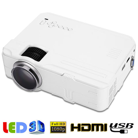 Video Projector Multimedia Projector LED Home Theater Home HD Projector 3D Bluetooth Office TV - BuyShipSave