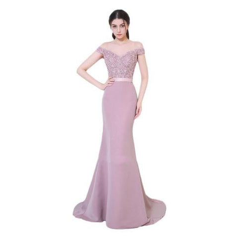 Elegant Noble Women Mermaid Long Evening Dress Sexy Backless Ladies Prom Gown Wedding Clothes - BuyShipSave