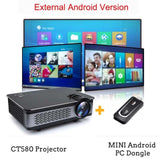 WZATCO CT580 Real Full HD Projector 1080P 1920*1080 3800Lumen HDMI Home Theatre Android 7.1 Projectors WIFI Beamer LCD Proyector - BuyShipSave
