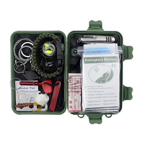 20 in 1 Multi-functional Tools Kit Fishing Outdoor Survival Emergency Set - BuyShipSave