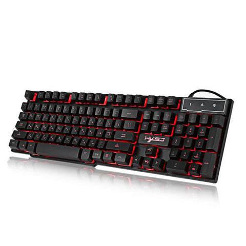 Wired Colorful Backlight Mechanical Feel Keyboard English and Russian Water-resistant Gaming Ergonomic Keyboard