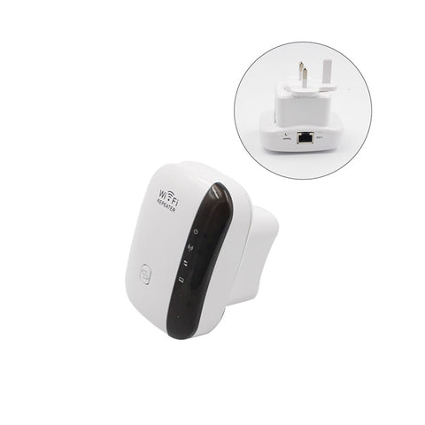 Wifi Range Extender Wireless Network Amplifier Mini 300Mbps AP Router Signal Repeater (UK Plug)