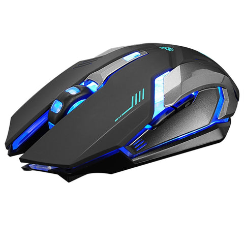 Gaming Mouse Rechargeable Wireless Silent USB Optical Mice (Black) - BuyShipSave