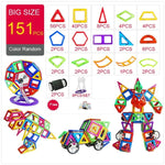 151PCS BIG SIZE Magnetic Designer Construction Set Model & Magnent Toy Triangle Square Constructor Plastic Boys Girls Gift - BuyShipSave
