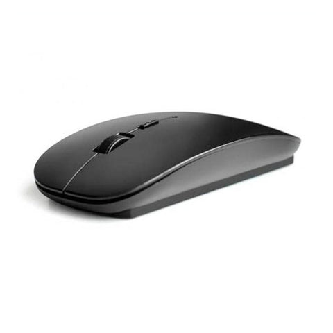 2.4G 4 Buttons Ergonomic Flat Wireless Mouse with USB Nano Receiver(Black) - BuyShipSave