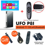 BYINTEK UFO P8I Android 7.1 OS Pico Pocket HD Portable Micro lAsEr WIFI Bluetooth Mini LED DLP Projector with Battery HDMI USB - BuyShipSave