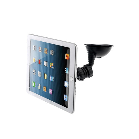 Universal 720-degree Rotating Dual Suction Cup Car Mount Holder Stand for Tablet PC /Cellphone (Black)